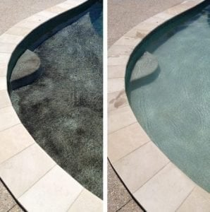 Copper stain in swimming pool
