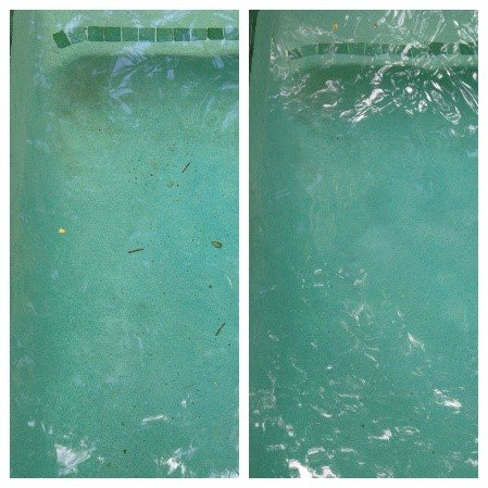 Rust stain in swimming pool