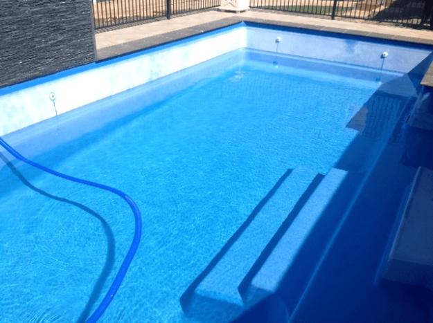 Calcium build-up on fibreglass pool