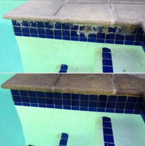 calcium on pool tiles